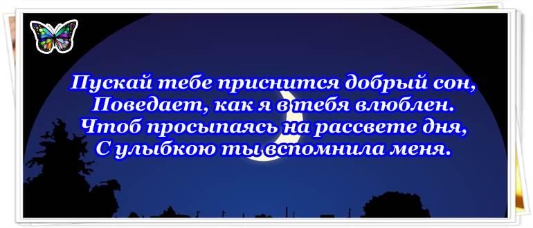Спокойной ночи любимая своими словами