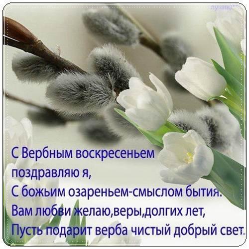 Красивые пожелания с вербным воскресением своими словами